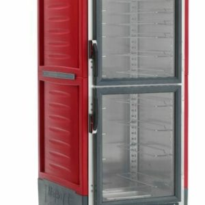 C5 3 Series Holding Cabinet with Insulation Armour, Full Height, Combination Module, Dutch Clear Doors, Universal Wire Slides, 120V, 2000W, Red (0-41105-45173-1)