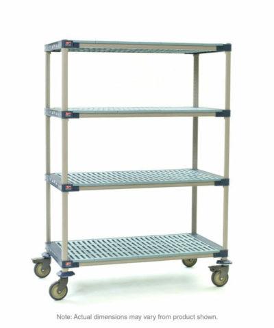"MetroMax 4 4-Tier Stem Caster Cart, Open Grid Shelves, 24"" x 36"" x 67.3125"" (0-41105-86453-1)"