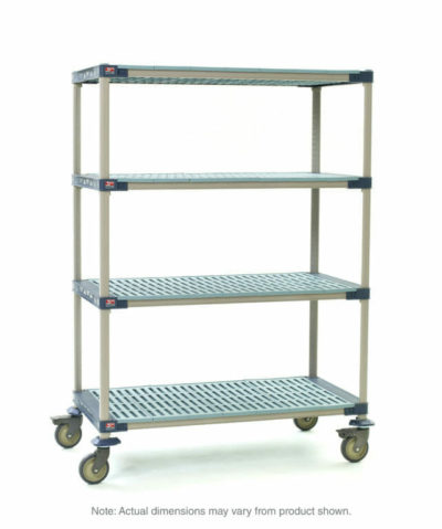 "MetroMax 4 4-Tier Stem Caster Cart, Open Grid Shelves, 24"" x 48"" x 67.3125"" (0-41105-86456-2)"