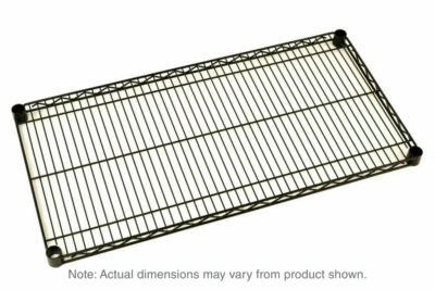 """Super Erecta Wire Shelf, Black, 24"""" x 48"""" (0-41105-33585-7)"""