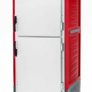 C5 3 Series Holding Cabinet with Insulation Armour, Full Height, Heated Holding Module, Dutch Solid Doors, Universal Wire Slides, 120V, 2000W, Red (0-41105-45378-0)