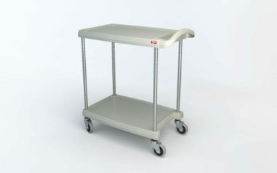 "myCart Series 2-shelf Utility Cart, Gray, 18.3125"" x 31.5"" (0-41105-86490-6)"