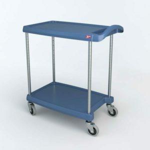 "myCart Series 2-shelf Utility Cart with Microban, Blue, 18.3125"" x 31.5"" (0-41105-86489-0)"