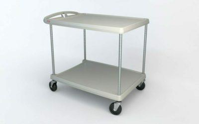"myCart Series 2-shelf Utility Cart, Gray, 27.6875"" x 40.25"" (0-41105-86502-6)"
