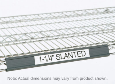 """Super Erecta Slanted Label Holder, Gray, 25"""" L x 1.25"""" H (0-41105-41346-3)"""