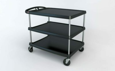 "myCart Series 3-shelf Utility Cart, Black, 27.6875"" x 40.25"" (0-41105-86503-3)"