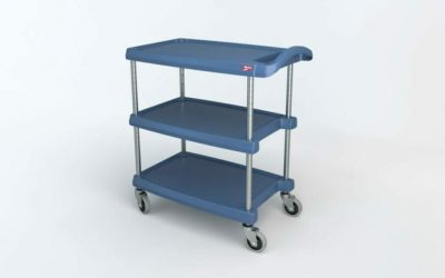 "myCart Series 3-shelf Utility Cart with Microban, Blue, 18.3125"" x 31.5"" (0-41105-86492-0)"
