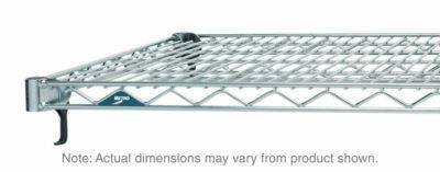 "Super Adjustable Super Erecta Wire Shelf, Polished Stainless Steel, 24"" x 72"" (0-41105-41856-7)"