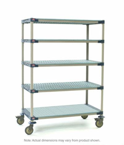 "MetroMax 4 5-Tier Stem Caster Cart, Solid Bottom Shelf, 24"" x 48"" x 79.3125"" (0-41105-86346-6)"