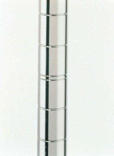 "Super Erecta SiteSelect Mobile Shelving Post, Polished Stainless Steel, 63"" H (0-41105-39466-3)"