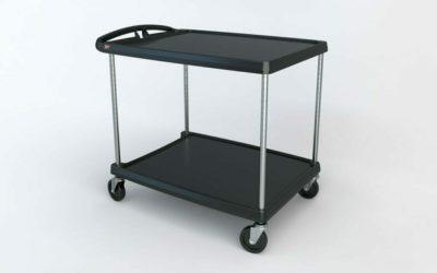 "myCart Series 2-shelf Utility Cart, Black, 27.6875"" x 40.25"" (0-41105-86500-2)"