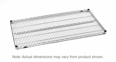 """Super Erecta Wire Shelf, Polished Stainless Steel, 14"""" x 30"""" (0-41105-30828-8)"""