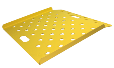 """Punched Deck 26"""" x 18"""" Safety Yellow"""