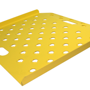 """Punched Deck 27"""" x 27"""" Safety Yellow"""