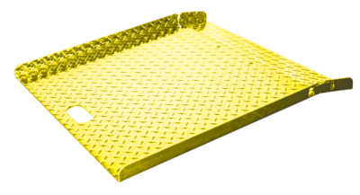 """Tread Plate Deck 27"""" x 27"""" Riveted Leg Safety Yellow"""
