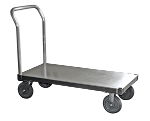 """Smooth, 24"""" W x 48""""L, 8"""" Casters, 1 Standard Handle"""