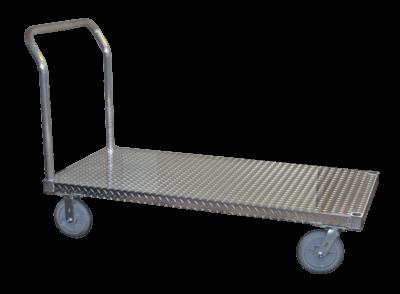 """Tread Plate, 30"""" W x 60"""" L, 8"""" Casters, 1 Standard Handle"""