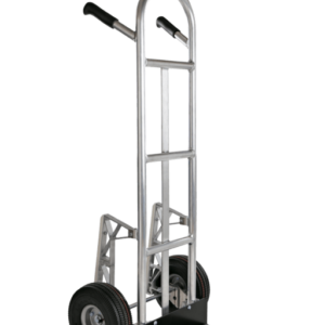 """Double pin, straight back tubular hand truck with 10"""" pneumatic wheels"""