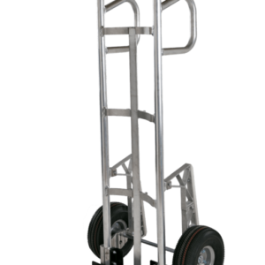 """Double loop, curved back tubular frame with 10"""" pneumatic wheels"""