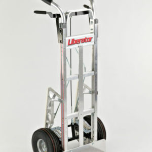 "Straight loop vertical grip disc brake truck with 10"" pneumatic wheels"