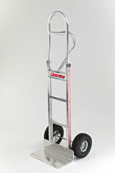 """Straight loop, vertical grip at 60"""" with 10"""" pneumatic wheels"""