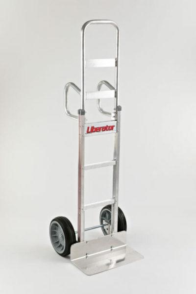 """Double vertical handle with 10"""" no flat wheels"""